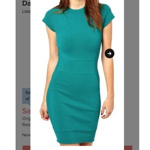 NWOT teal body con bandage French connection dress